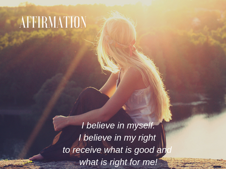 """Affirmation  """"Believe in yourself"""""""