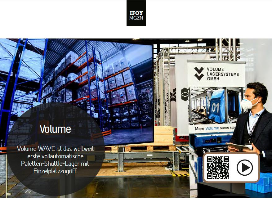 VOLUME Lagersysteme - Ausschnitt IFOY Magazin 2021