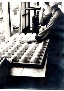 旧松戸工場のボール製造風景