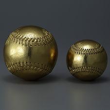 野球ボール 金 ゴールド ソフトボールサイズ