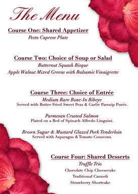 Valentine's Day Dinner 2020 Menu