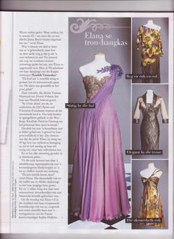 Elana Meyer's wardrobe by Hendrik Vermeulen for the Princely wedding in Monaco