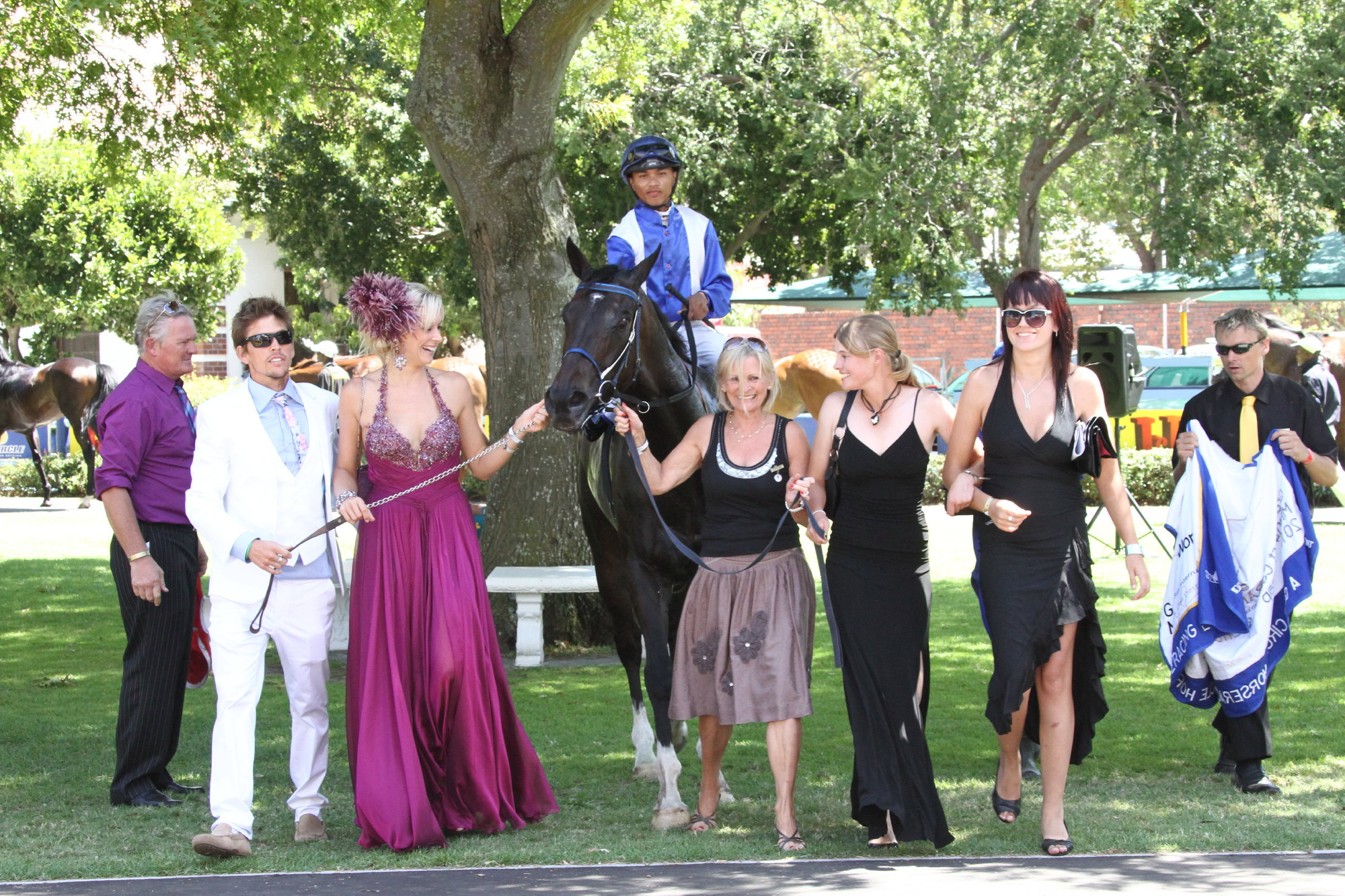 Vanessa Haywood with husband Ryan Sandes and winning horse