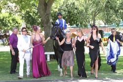 Vanessa Haywood with husband Ryan Sandes and winning horse