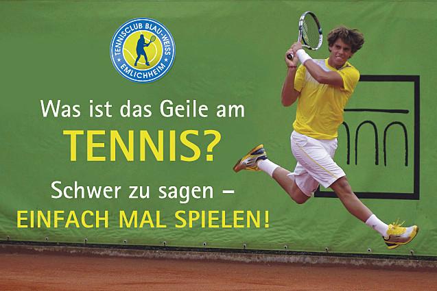 """Vorbei kommen und """"Tennisluft"""" schnuppern"""