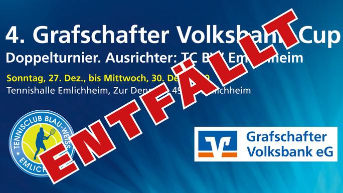 4. Grafschafter Volksbank Cup entfällt