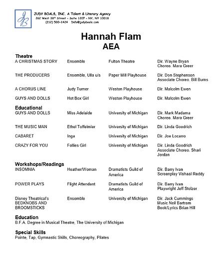 hannah-flam | HEADSHOT & RESUME