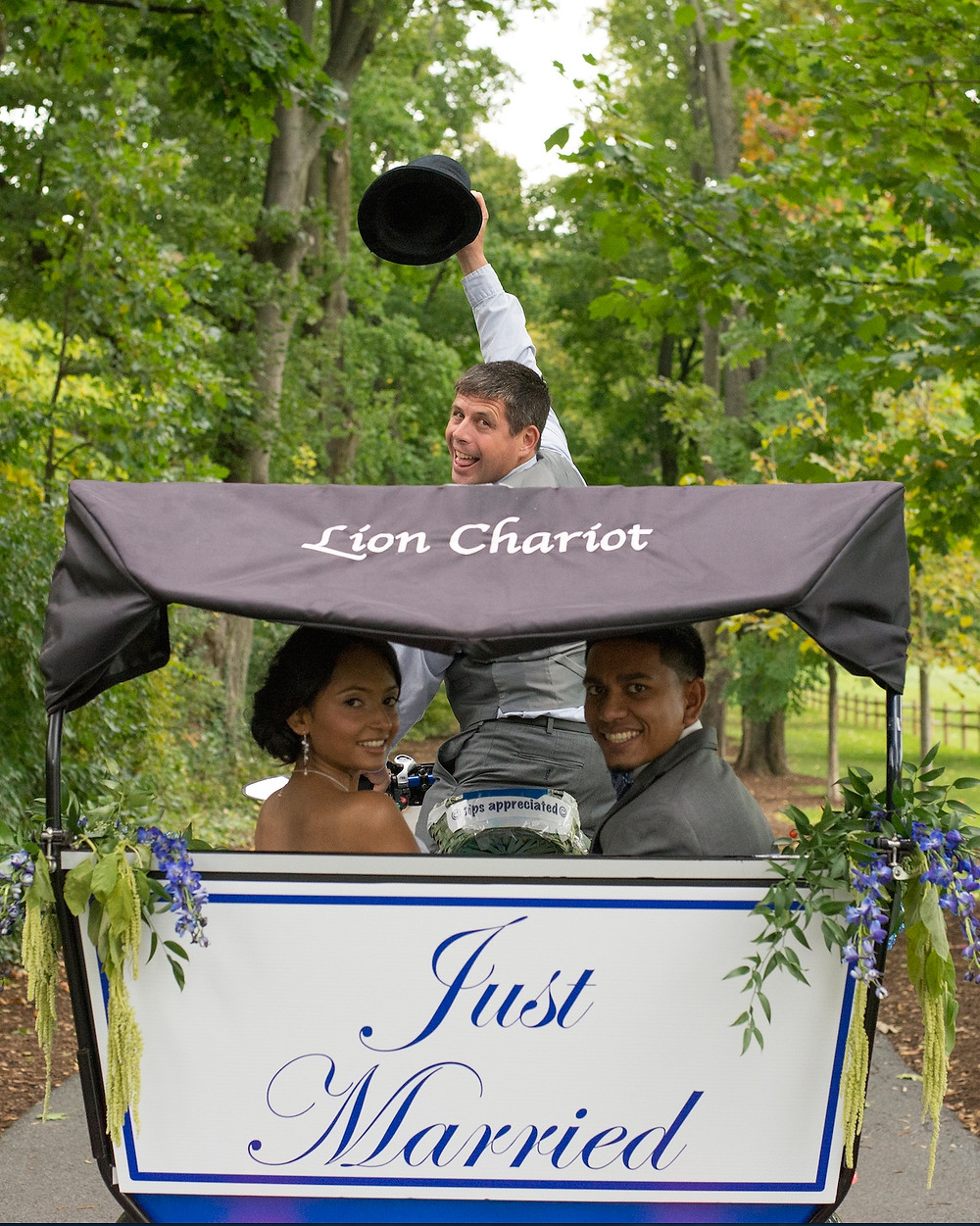 Vamos! Lion Chariot: Eco-friendly wedding transportation