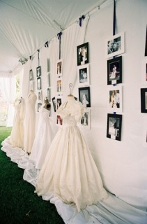 Vintage Gown Display