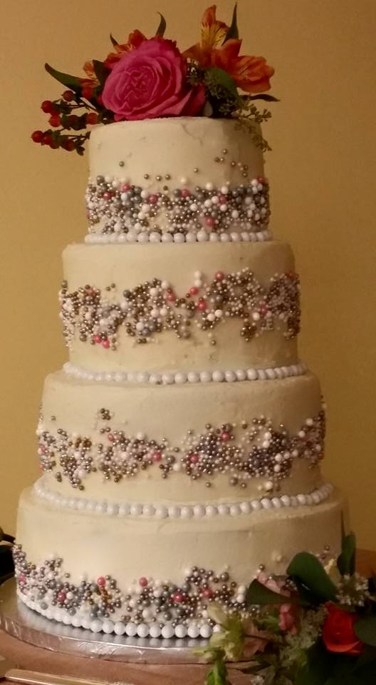 Wedding Cake by M&C Cakery, Bellefonte PA