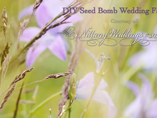 DIY Seed Bomb Wedding Favors