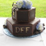 Groom's Cake with his Initials by Kim Morrison