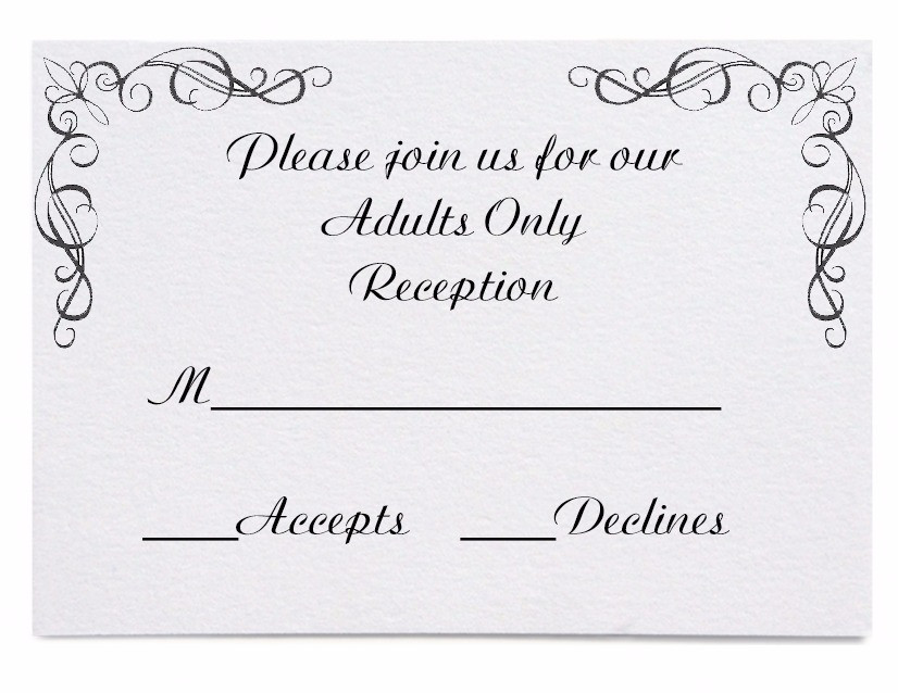 Be Clear About An Adults Only Reception
