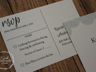 Wedding Tip of the Week: Number Your RSVP Cards