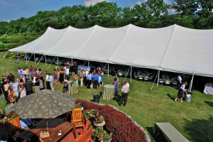 Tented wedding at Earlystown Manor