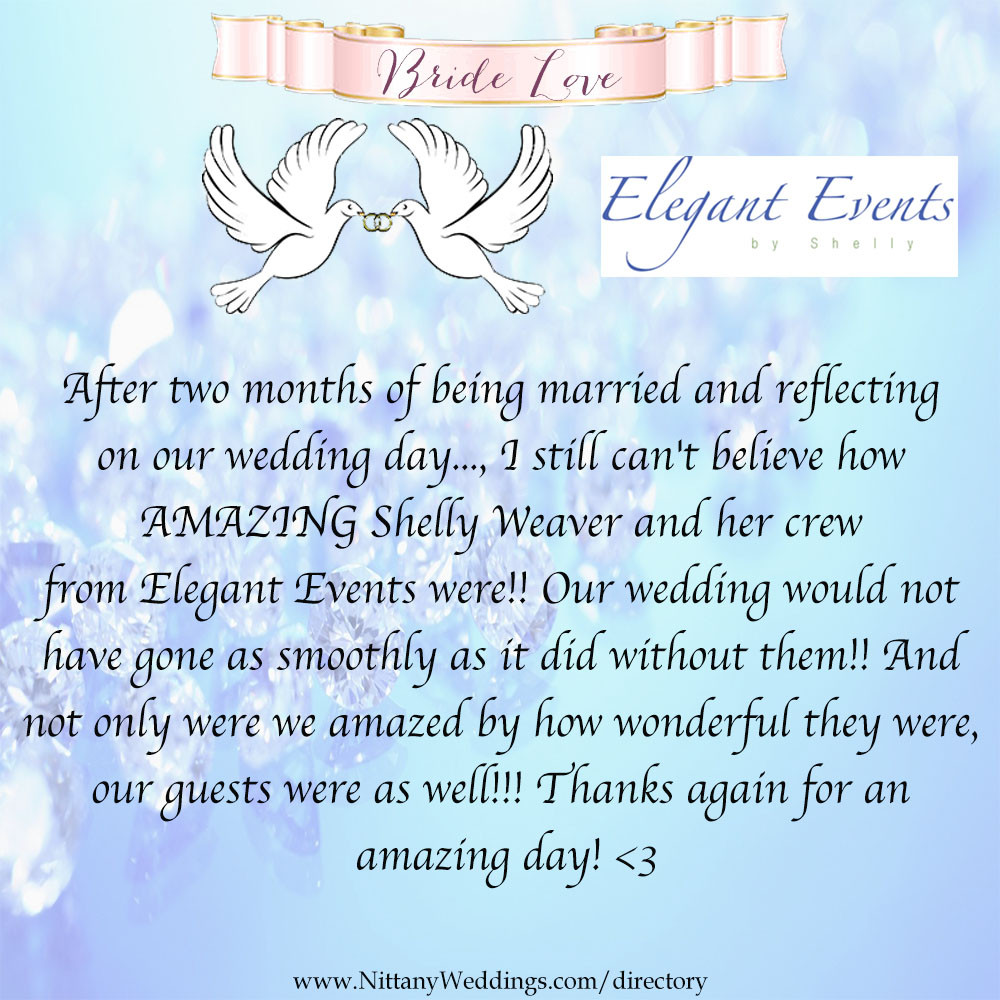 Elegant Events by Shelly Review