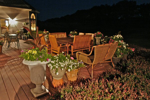 Earlystown Manor Deck at Night