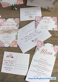 Wedding Invitations in Centre County - Raspberry Creative