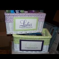 Wedding Tip of the Week: Restroom Hospitality Baskets