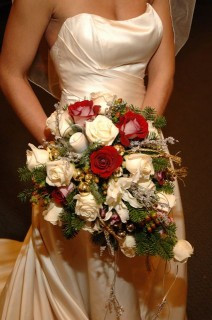 Winter Bridal Bouquet by Deihl's Flowers
