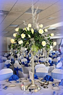 Winter Wedding Centerpiece by Deihl's Flowers