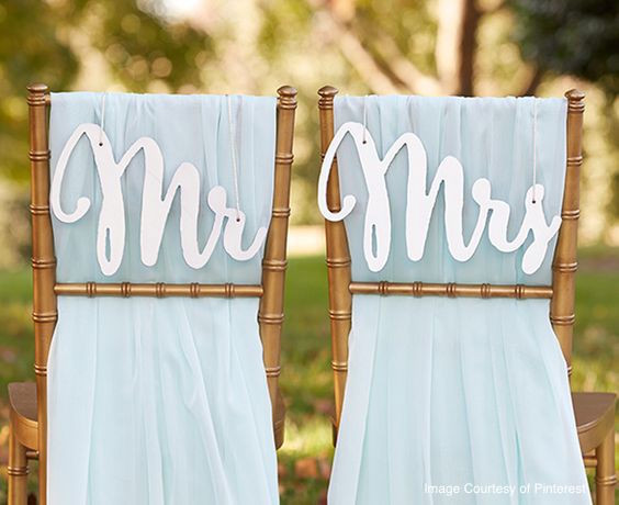 Wedding Tip of the Week: Consider what you will do with personalized items after the wedding before deciding on the wording