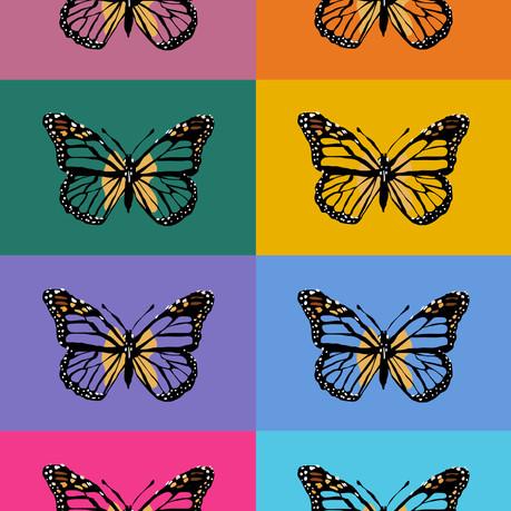 technicolor butterflies