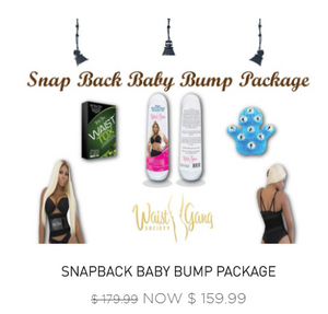 Snap Back Baby Bump Package