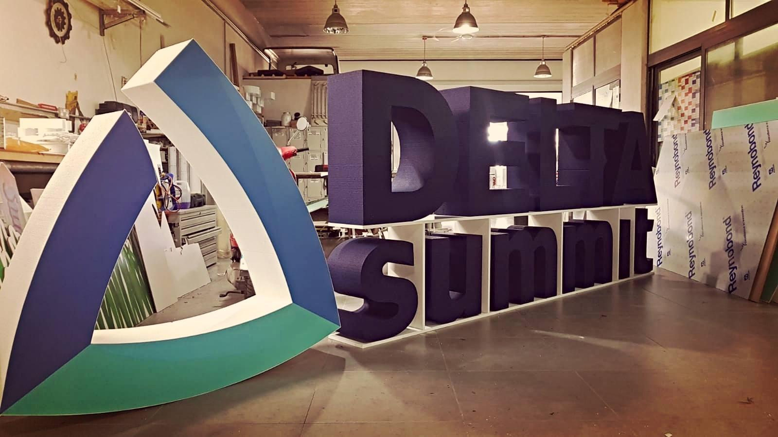 Delta Summit 3d Polystyrene logo