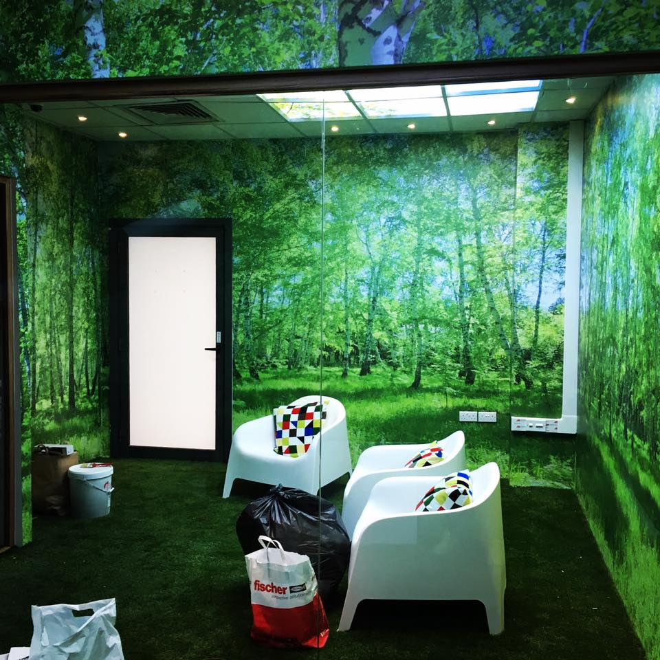 Adhesive wall graphics