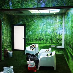 Adhesive wall graphics