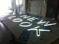 New look - fabricated sign