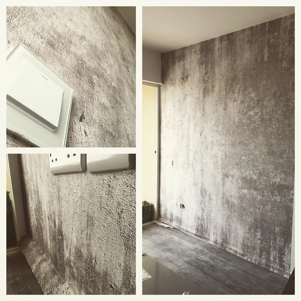 Concrete texture printed textile