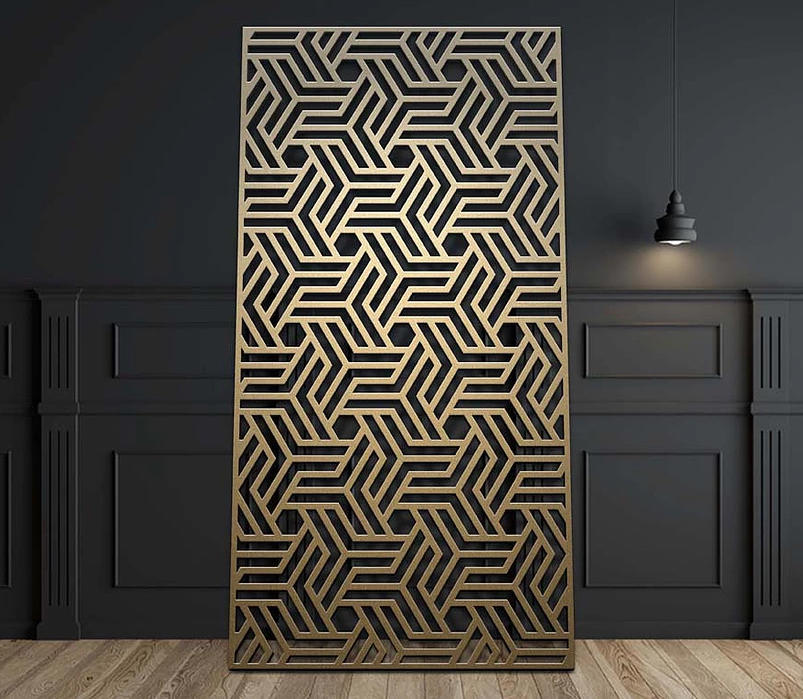 Cnc machined pattern on MDF