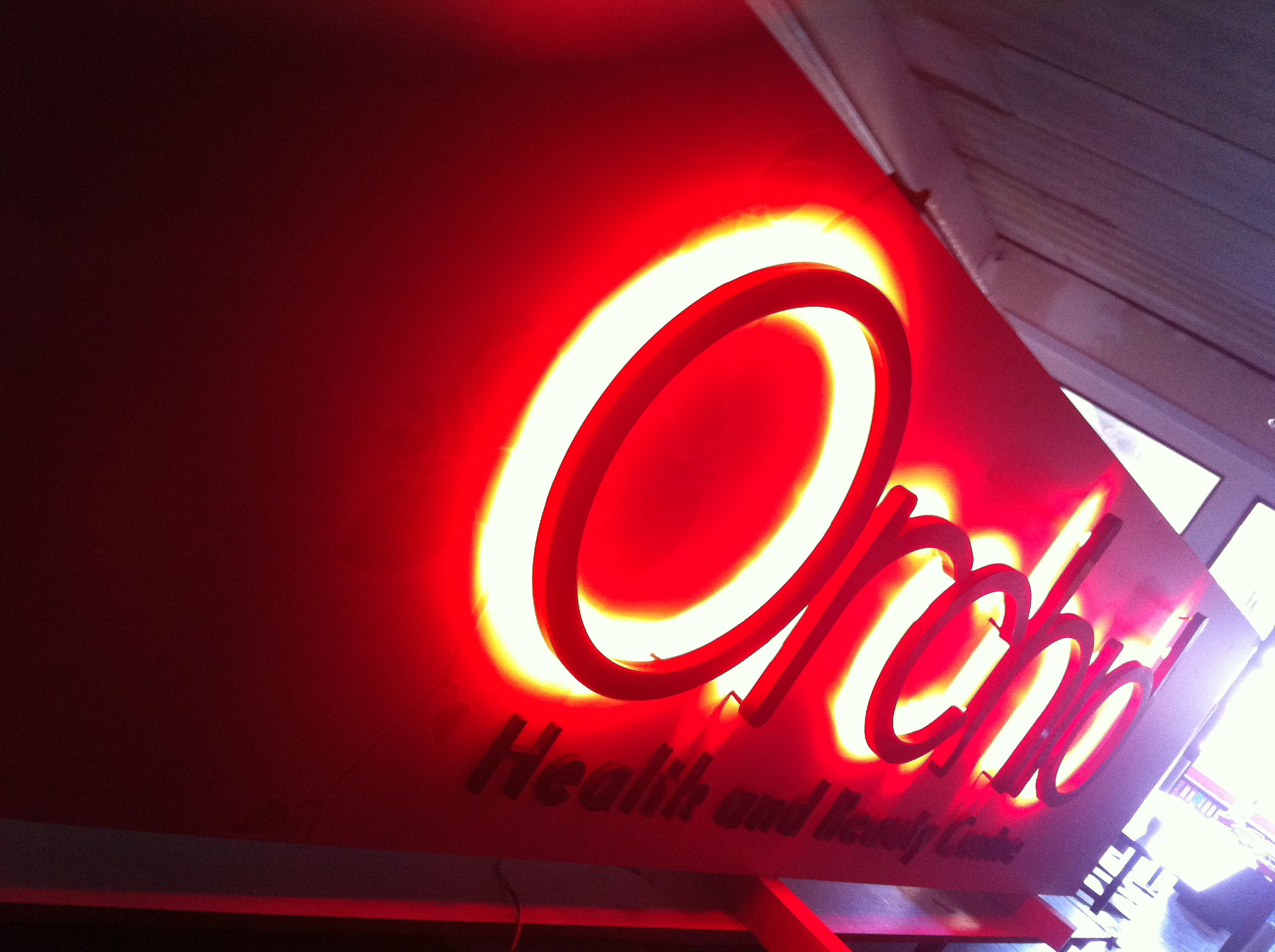 Orchid led sign