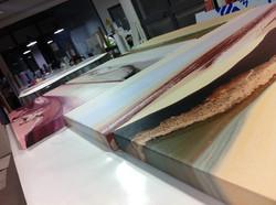 Art canvas printed frames
