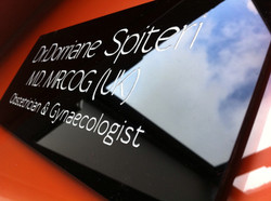 Wall sign engraved acrylic