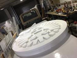 Raw 3D polystryrene logo