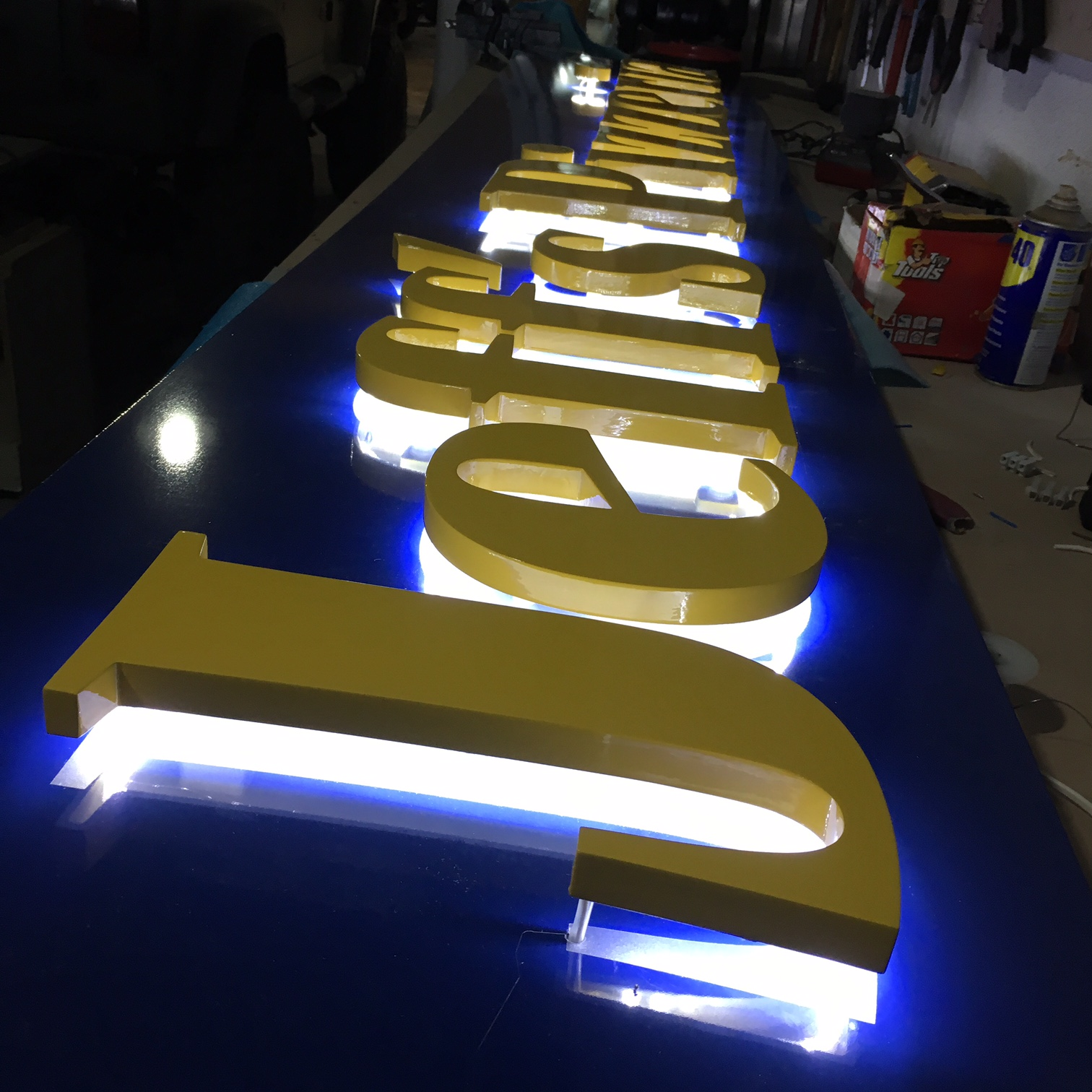 20mm routed plastic lettering