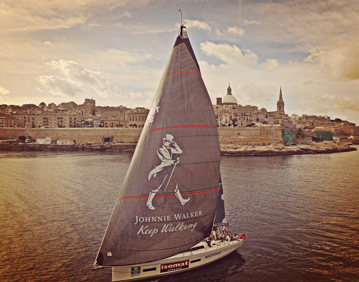 Johnny Walker main sail decals