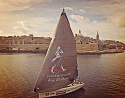 Johnny Walker main sail decals