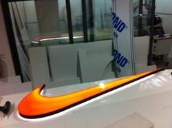 Nike fabricated led sign