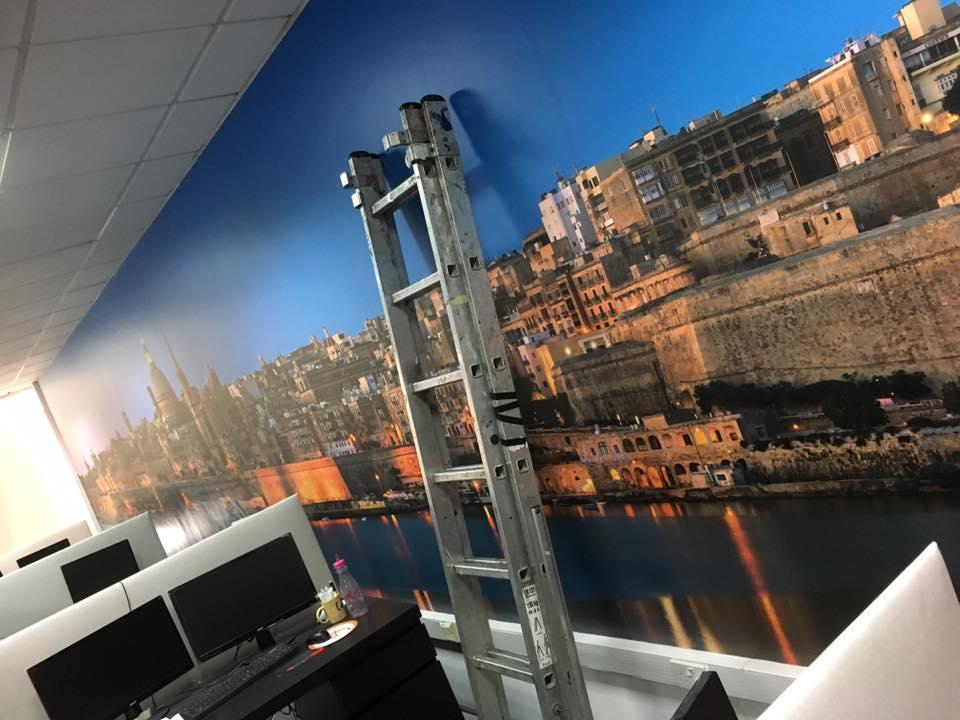 11mtrs mural Ferratum bank Malta