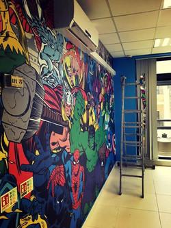 marvel mural