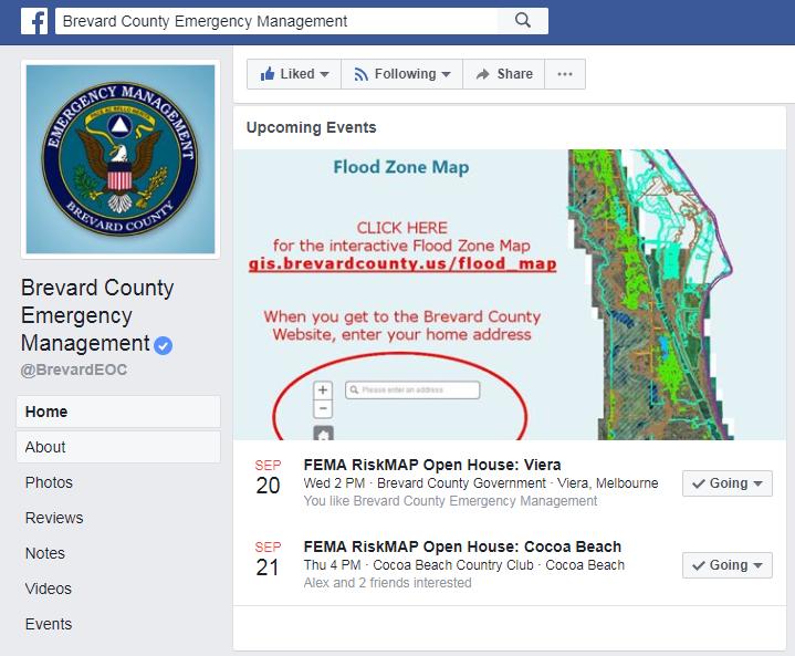 Brevard County Emergency Management FEMA Flood Zone Map