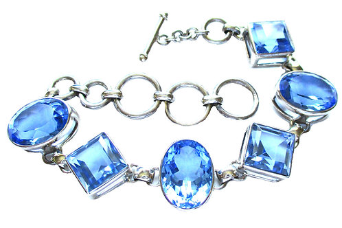 Blue Siberian Quartz Bracelet