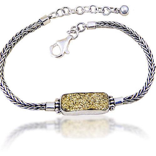 Gold Druzy Quartz Bracelet