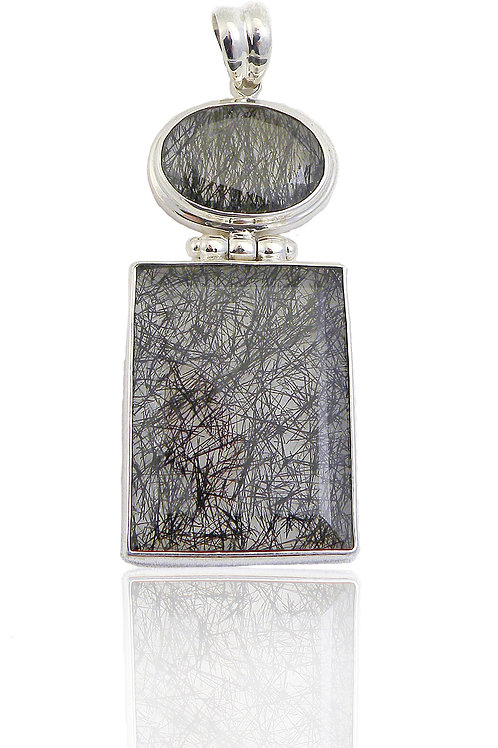 Sterling Silver Pendant with Rutilated Quartz