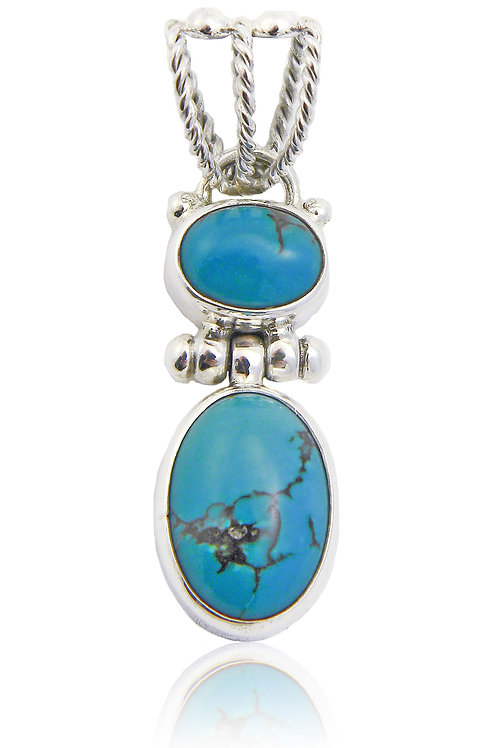 Sterling Siver Pendant with Turquoise