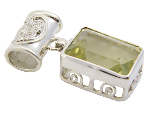 Sterling Silver Pendant with Lemon Topaz